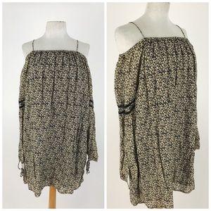 Zara Trafaluc Off Shoulder Tunic Dress